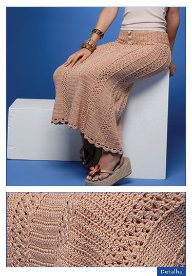 Crochetemoda: Crochet - Saia Vanessa Montoro