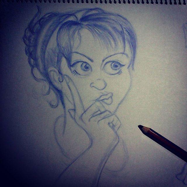 ¿Qué estas pensando?What do you think?  #dibujando #drawing