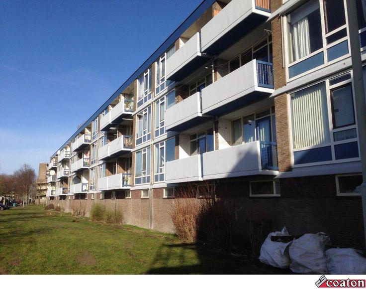 Betonherstel en schilderwerkzaamheden aan de Herman Gorterstraat in Wormerveer! Met een mooi eindresultaat http://www.coaton.nl/