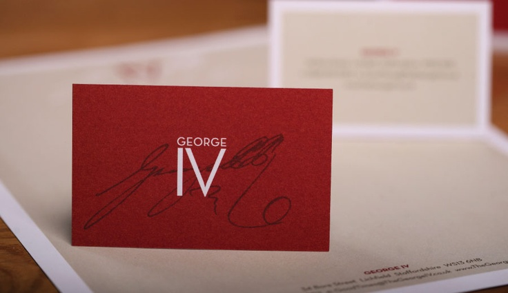 George IV branding and marketing material