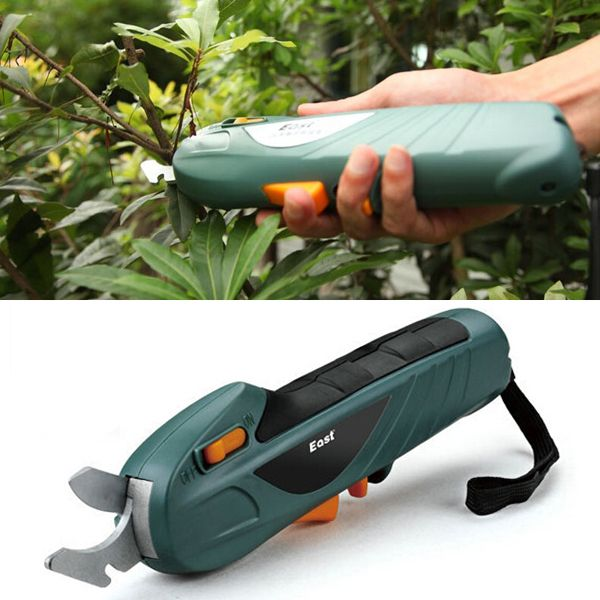 East 7.2V Rechargeable Electric Scissor Branch Cutter Garden Power Tool This rechargeable gardening scissor is used to trim small branches and flower, fruits,etc., safe, and convenient. Using high quality ABS material and 65Mn material, quality...
