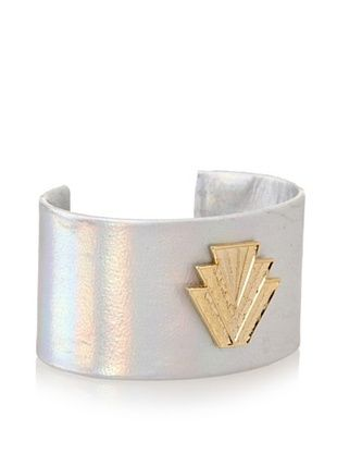 60% OFF a.v. max Hologram Leather Cuff