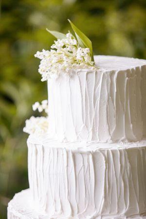 Simple white wedding cake | Wedding | Pinterest | White Wedding Cakes ...
