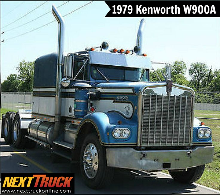"""Our featured truck is a 1979 Kenworth W900A, Sleeper, Cummins Engine, Diesel, Air Ride Suspension, 2 Axles, 24.5"""" Tires. View more #Kenworth #Trucks at http://www.nexttruckonline.com/trucks-for-sale/by-make/Kenworth #Trucking #NextTruck #tbt"""