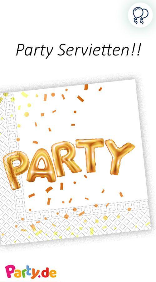 20 Goldene Party Servietten 33cm In 2018 We