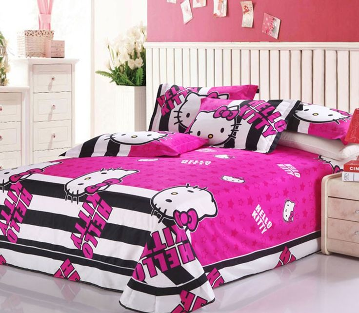 Hello Kitty Bedroom Set Various Cute Decorations To Fill In,