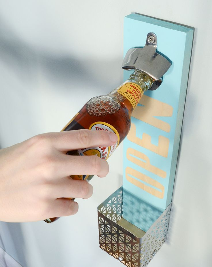 How-To: Easy Wall Mounted Bottle Opener | Mounted bottle ...