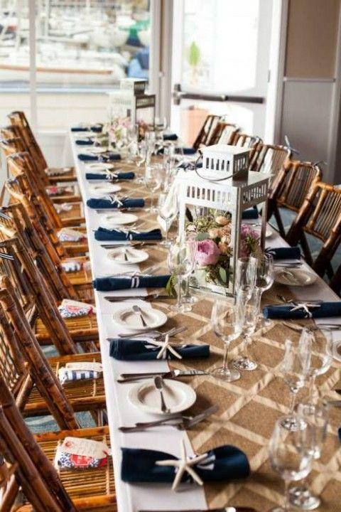 Stylish nautical beach wedding ideas happywedd