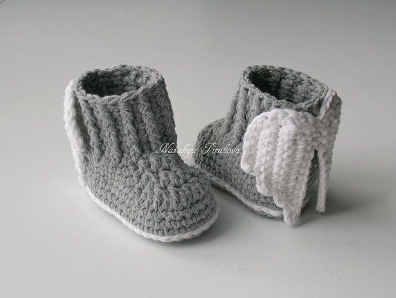Uncinetto Babbucce con Angel Wings/Crochet di Nataliyaknitting