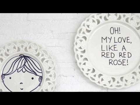 Διακόσμηση τοίχου με πιάτα - YouTube