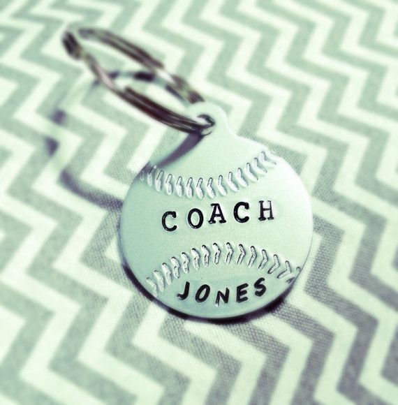 Perfect Coach's Gift - Personalized Baseball or Softball Keychain on Etsy, $12.50 baseball coach softball coach