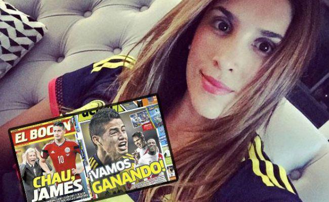 Daniela Ospina salió en defensa de su marido James Rodríguez tras los ataques de la prensa peruana.  1.9.15