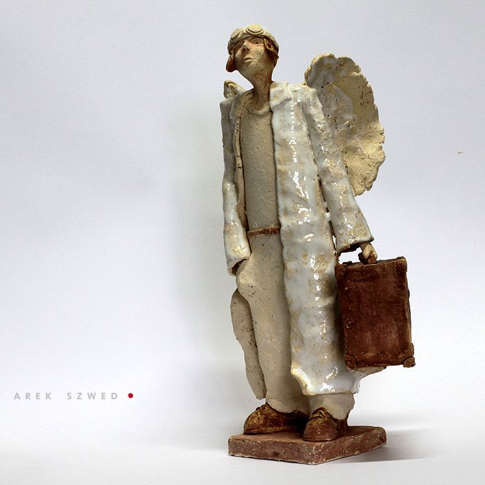Angel/Ceramic Sculpture /Unique Ceramic Figurine /Ceramic Angel by arekszwed on Etsy