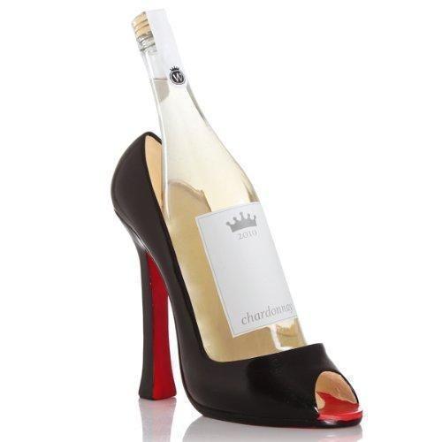 Oferta: 20.06€. Comprar Ofertas de Negro botellero con forma de zapato de tacón | Negro Stiletto soporte para botellas de vino, negro para vino, negro con vento barato. ¡Mira las ofertas!