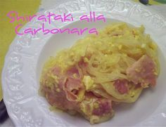 Shirataki alla Carbonara