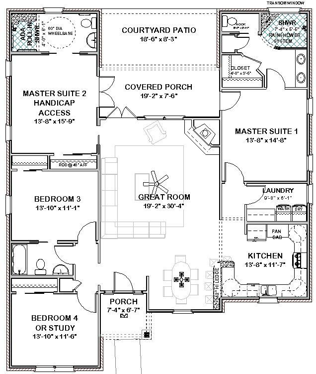 117 Best Duplex Plans Single Level Images On Pinterest