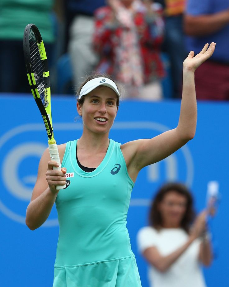 Johanna Konta of Great Britain celebrates her victory during her third round women's singles match against Petra Kvitova of Czech Republic on day four of the WTA Aegon International at Devonshire Park on June 22, 2016 in Eastbourne, England. (Source: Steve Bardens/Getty Images Europe)
