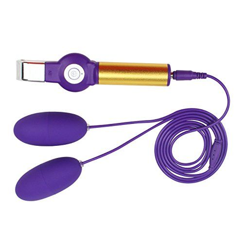 Dual Bullet Vibrator PALOQUETH 20 Frequency USB Rechargeable Female Masturbation Vibrating Bullet with Wire Remote Control Purple ** Continue to the product at the image link.