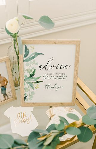 Gold & Greenery Woodland Baby Shower – Baby-Dusche-Idee – #Baby #Gold #Greenery …