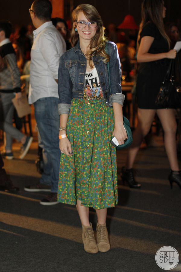 long skirt with liberty prints and t-shirt the beatles