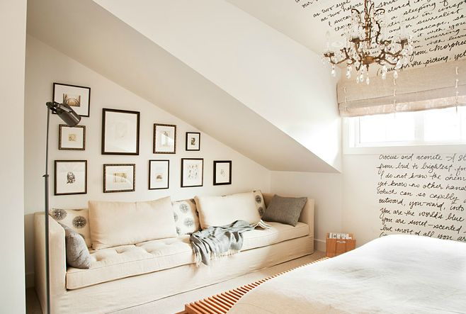 how to design around your sloped ceiling | @meccinteriors | design bites | #slopedceiling #bedroom #seatingarea | by Kelly Deck