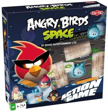 Angry Birds,Gra zręcznościowa w wersji na stół! Przygotuj kosmiczne ptaki na wielkie polowanie! Zbuduj z lodu i drewna fortecę, wyceluj i strąć świnki. W pudełku znajdziesz wszystko, co potrzebne do przygotowania placu boju – niech rozpocznie się kosmiczna bitwa!