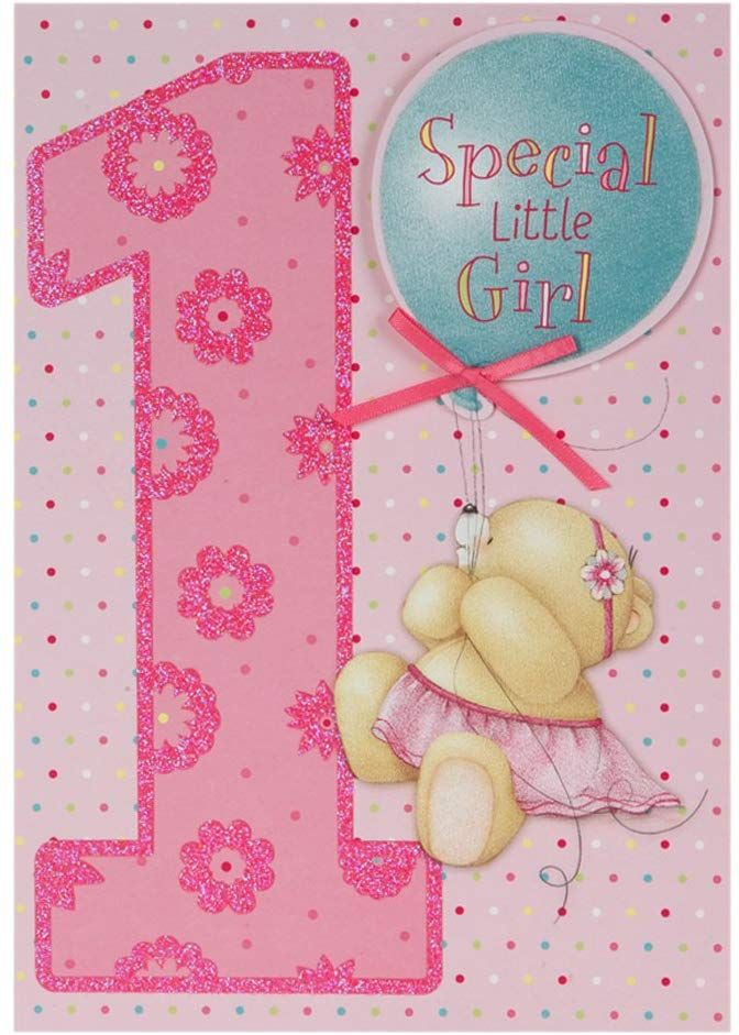Hallmark Forever Friends 1st Birthday Card For Her Special Little