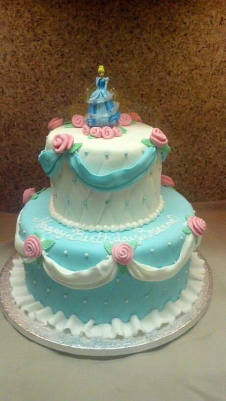 Cinderella is off to the Ball Birthday Cake