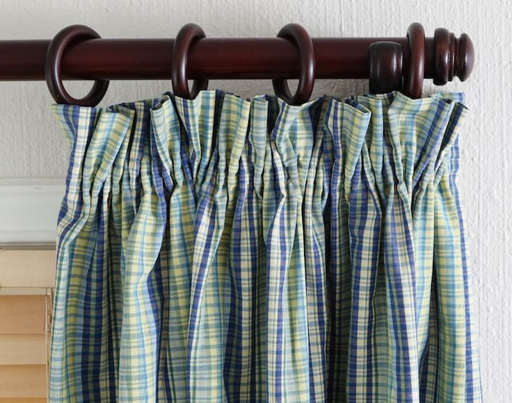 how to make lined gathered curtains