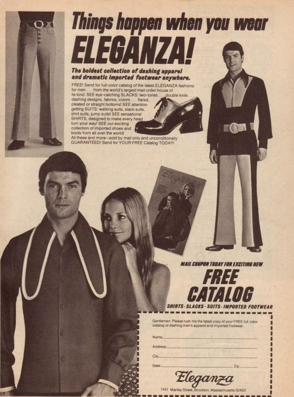 """""""Things happen when you wear ELEGANZA!""""... I guess people laugh at you :D"""
