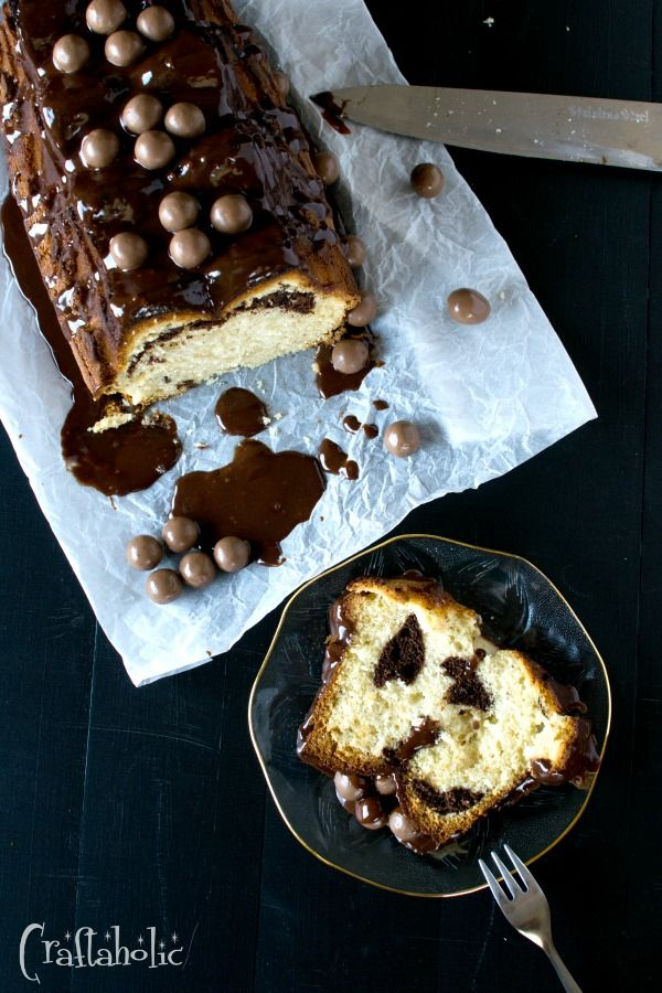 Αφράτο κέικ με γλάσο μερέντας και maltesers - Craftaholic