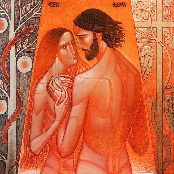 ADAM AND EVE (2017, 60x60)