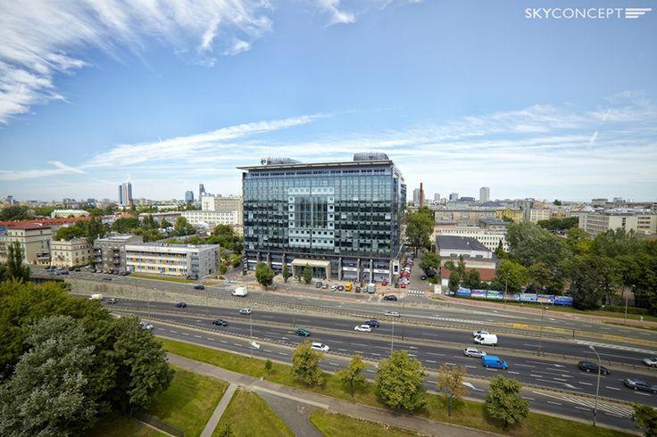 Zdjęcie lotnicze Biurowca Focus (Warszawa - Mokotów).