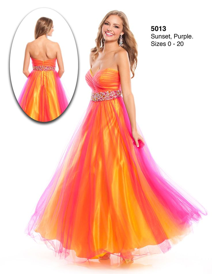 Fitted Ombre Prom Dresses Red
