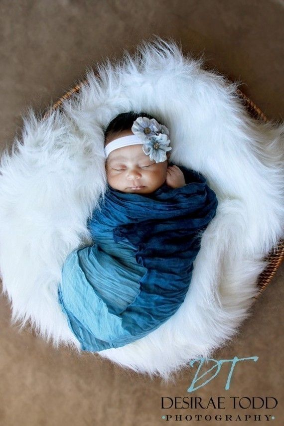 Sapphire Blue New Born Baby Wrap PHOTO PROP Baby by prettypanda