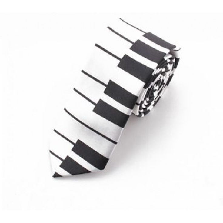 Галстук узкий белое пианино c широкими клавишами - купить в Киеве и Украине по недорогой цене, интернет-магазин