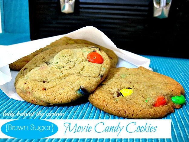 Lady Behind The Curtain - Brown Sugar Movie Candy Cookies