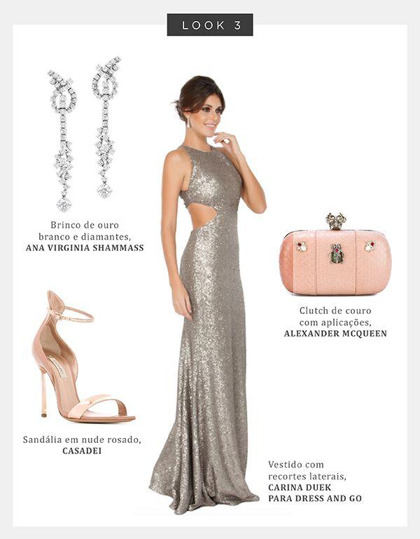 Looks Completos de Vestido Longo de Festa Com Acessórios
