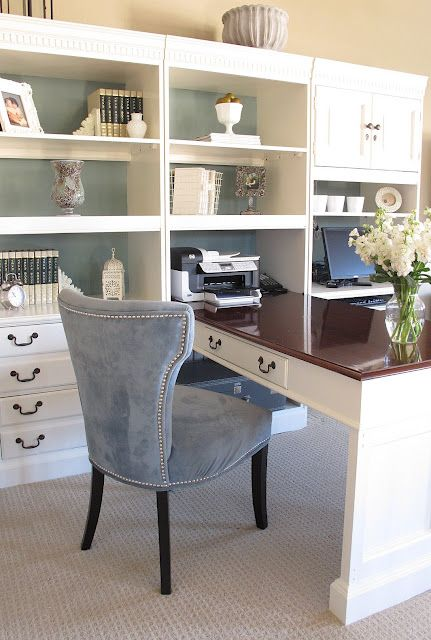 My future office/craft room <3Office Spaces, Bookshelves, Decor Ideas, Loft Offices, Offices Spaces, Crafts Room, Uncommon Slices, Desks, Home Offices