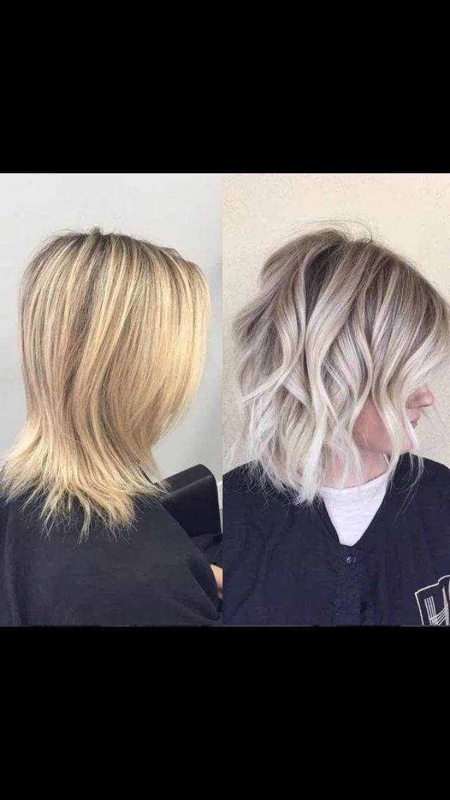 Hair style with color before and after. Loving after.