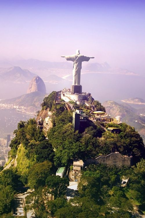 Christ the Redeemer - Corcovado, Rio de Janeiro, Brazil I book travel! Land or Sea! http://www.getawaycruiseplanner.com