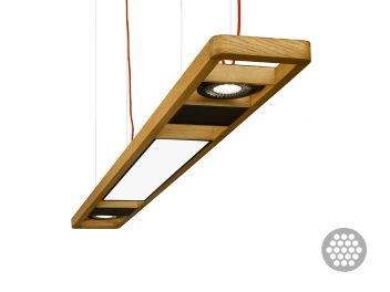 Halla lighting, colección ARBO fabricada en madera con tecnolgía Led
