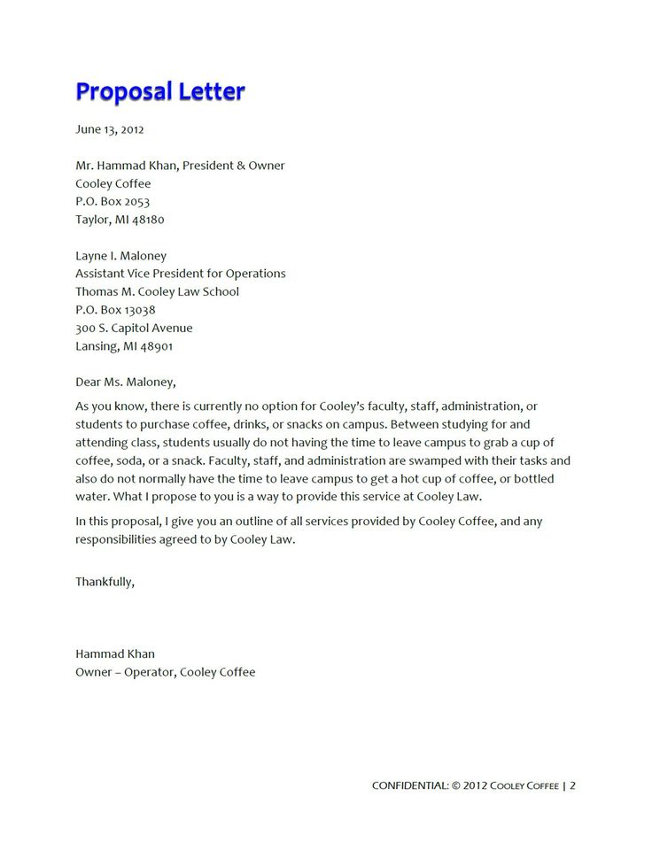Business Proposal Letters Business Proposal Letter To Client Word