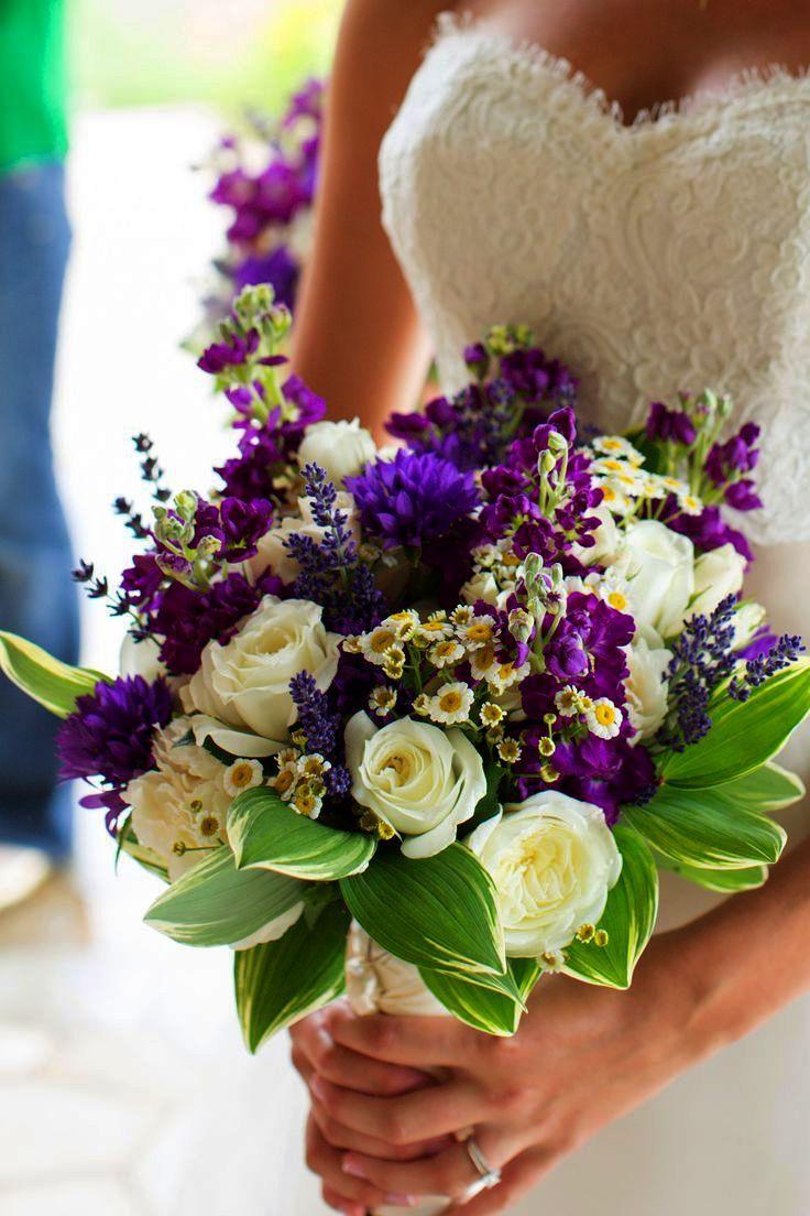 Love Sweety Flower Girls Elegant Headband Wedding Floral Crown White Purple Wedding Flowers Wedding Flowers Floral Crown Wedding