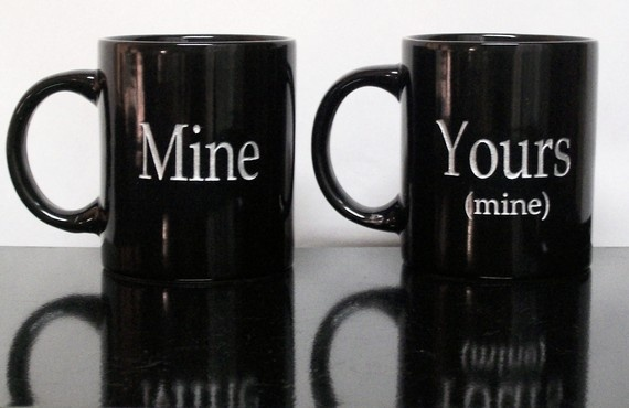 pretty much says it all...Couples Coffe, 1542 Coffe, Coffe Cups, Bdsm Fun, Funny, Mornings Coffe, Mine, Things, Coffee Mugs