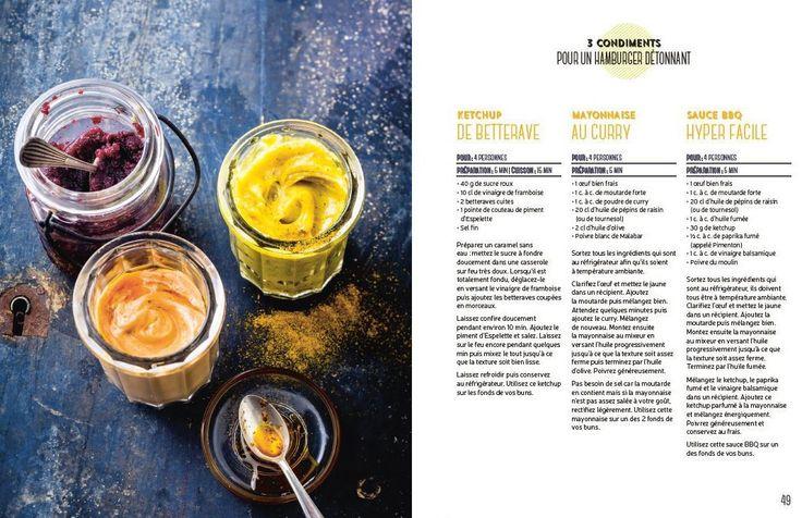 La petite touche qui change tout ! par Anne de la Forest #livre #food #spices #recipe #burger #sauce