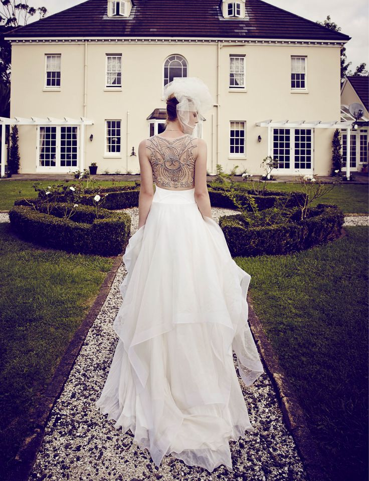 One of our wedding dresses is featured in the current @nzweddings!  See more pictures of this style here: http://www.annaschimmel.co.nz/dress/sheer-back-wedding-dress/ #romantic #wedding #dress #summer #beautiful #back