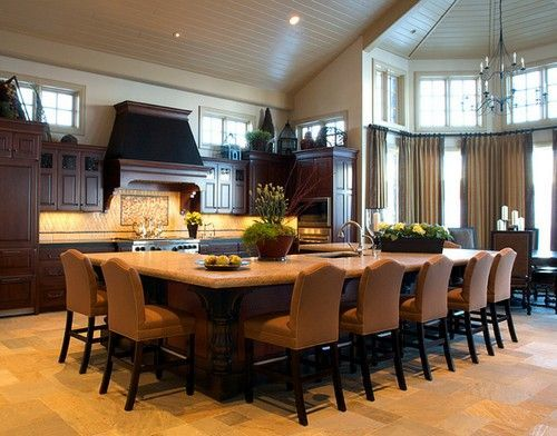 wonderful large kitchen island designs seating | L-shaped Kitchen Island with Seating | kitchen island with ...