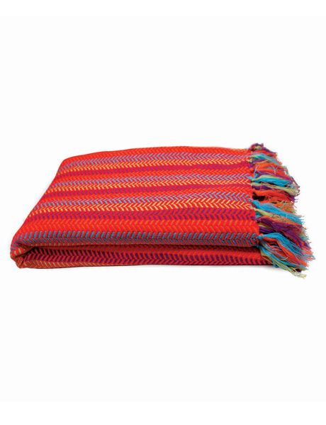 This yarn dyed woven throw from Keiko features an exotic colour combination and has a soft touch feel.