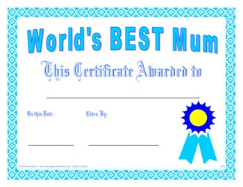 mothers day certificate templates to print mothers day gifts